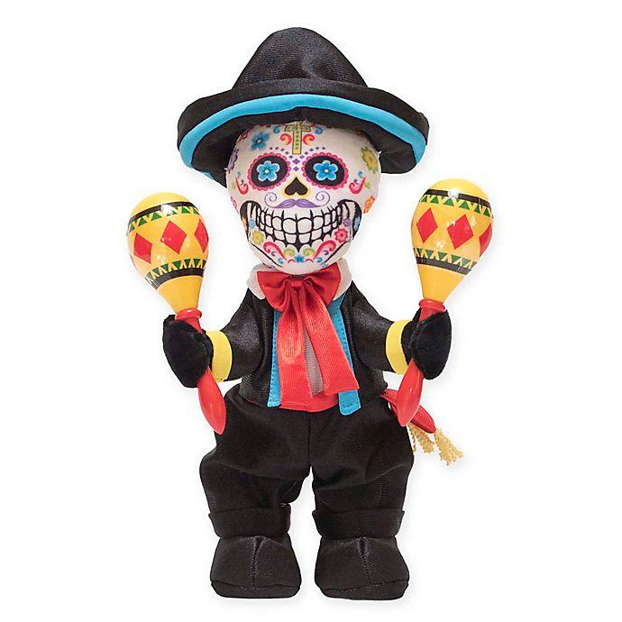 Alternate image 1 for Las Calaveras Pablo Plush Toy in Black