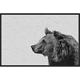 Marmont Hill Side Furry Bear II Framed Canvas Wall Art