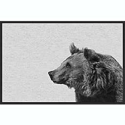 Marmont Hill Side Furry Bear II 24-Inch x 16-Inch Framed Canvas Wall Art
