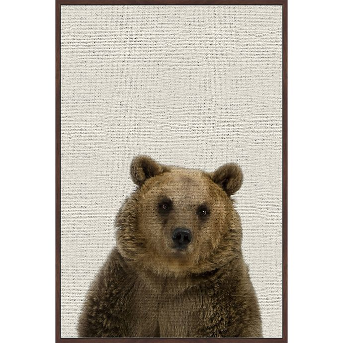 Alternate image 1 for Marmont Hill Furry Bear 24-Inch x 36-Inch Framed Wall Art