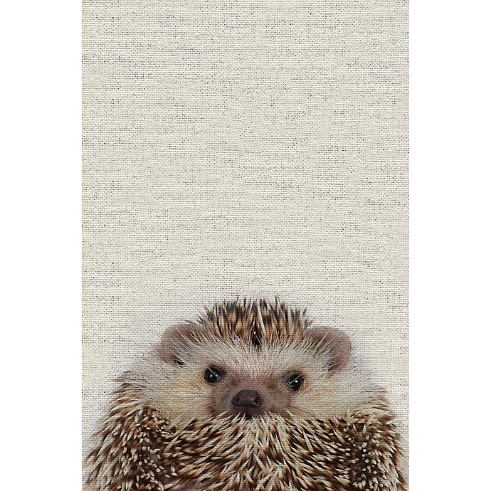Alternate image 1 for Marmont Hill Cute Porcupine 12-Inch x 18-Inch Canvas Wall Art