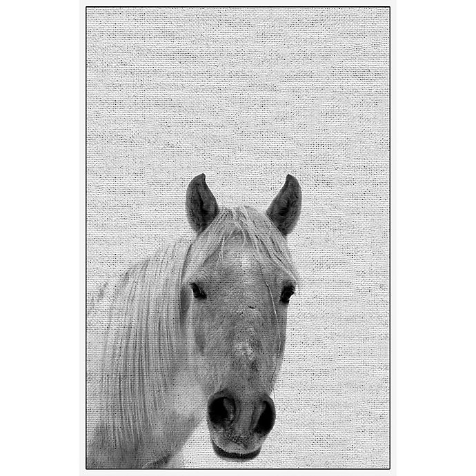 Alternate image 1 for Marmont Hill Big-Nosed Horse 30-Inch x 45-Inch Framed Wall Art