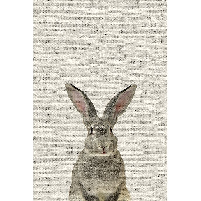 Alternate image 1 for Marmont Hill Grey Rabbit 30-Inch x 45-Inch Canvas Wall Art