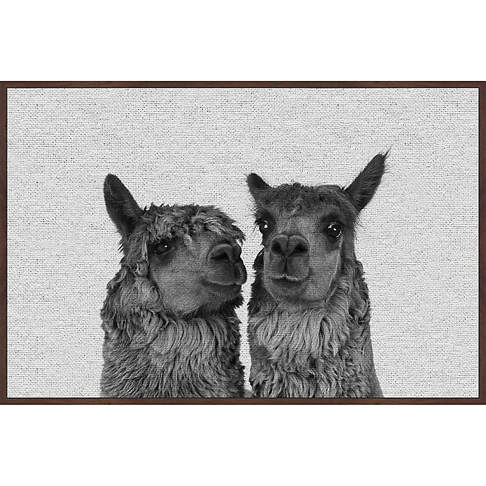 Alternate image 1 for Marmont Hill Llama Couple 30-Inch x 20-Inch Framed Wall Art