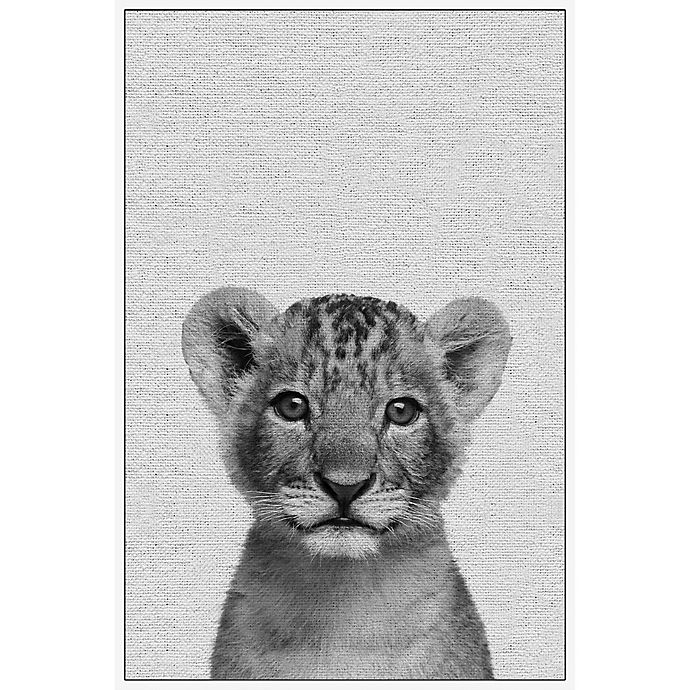 Alternate image 1 for Marmont Hill Smiling Cub 40-Inch x 60-Inch Framed Wall Art