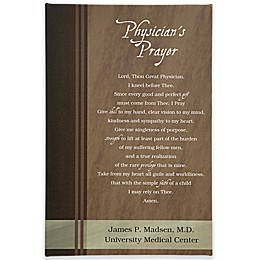 Physician's Prayer Canvas Print