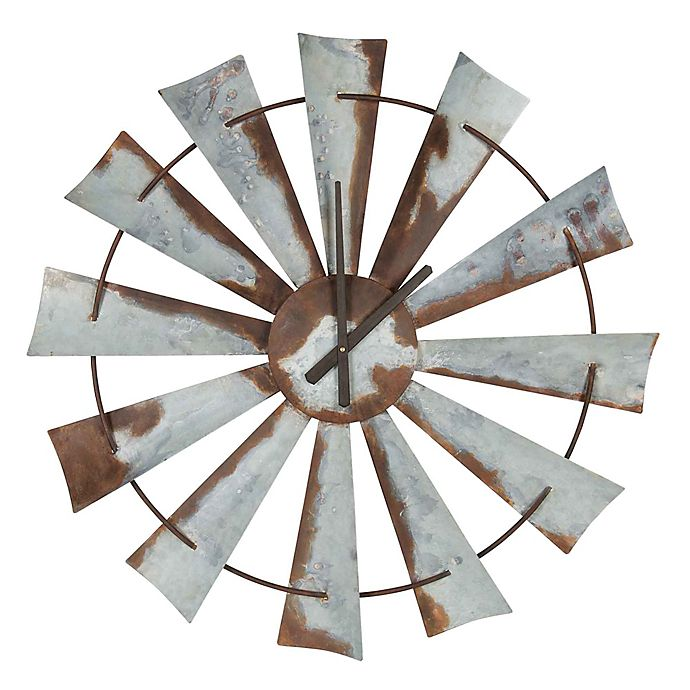 Alternate image 1 for Kate and Laurel 31.5-Inch Millbrook Windmill Wall Clock