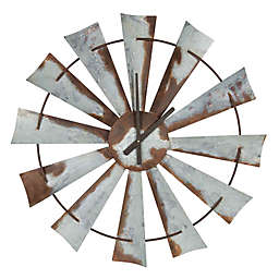 Kate and Laurel 31.5-Inch Millbrook Windmill Wall Clock