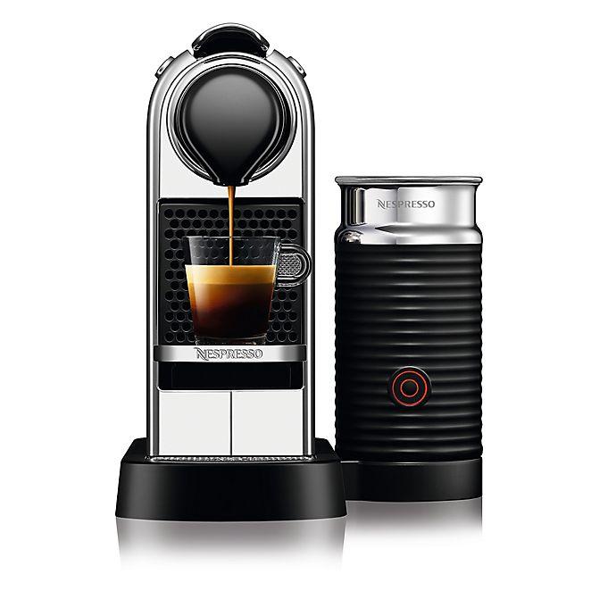 Alternate image 1 for Nespresso® by Delonghi CitiZ & Milk Espresso Machine in Chrome