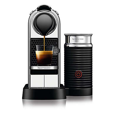Nespresso® by Delonghi CitiZ Espresso Maker Bundle with Aeroccino Frother in Chrome