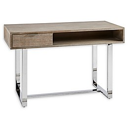 Madison Park Lynn Writing Desk in Brown/Silver