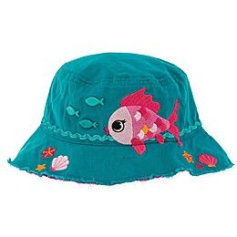 Stephen Joseph® Fish Bucket Hat in Teal