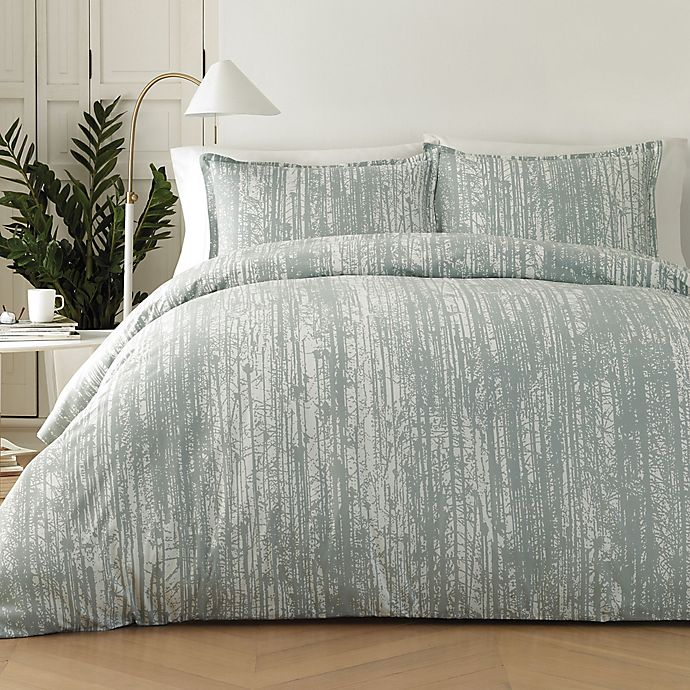 City Scene Aria Aria Duvet Cover Set Twin Pastel Grey