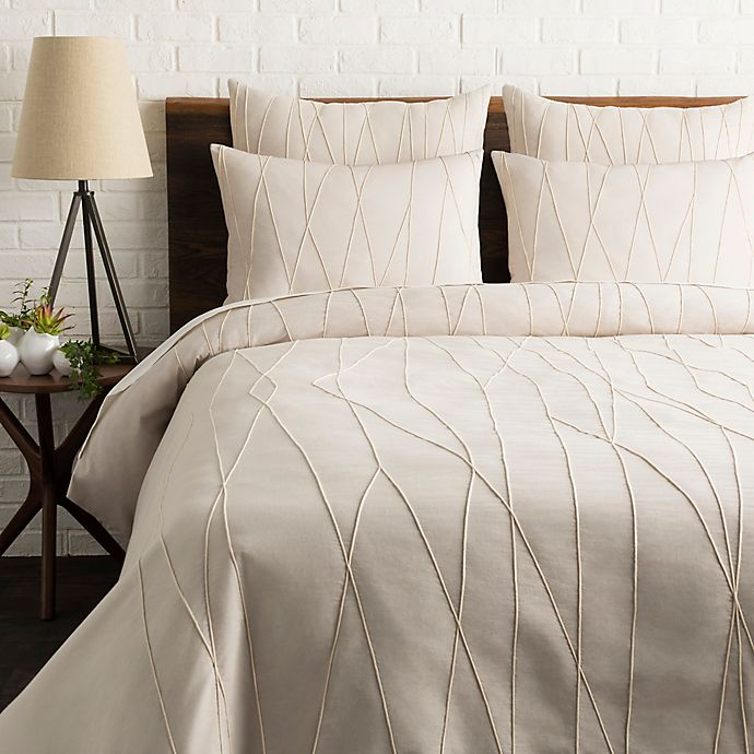 Alternate image 1 for Surya Mio Embroidered 3-Piece Duvet Cover Set