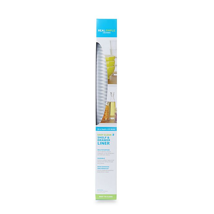 Alternate image 1 for Real Simple® Easy-Clean Non-Adhesive Shelf & Drawer Liner in Clear