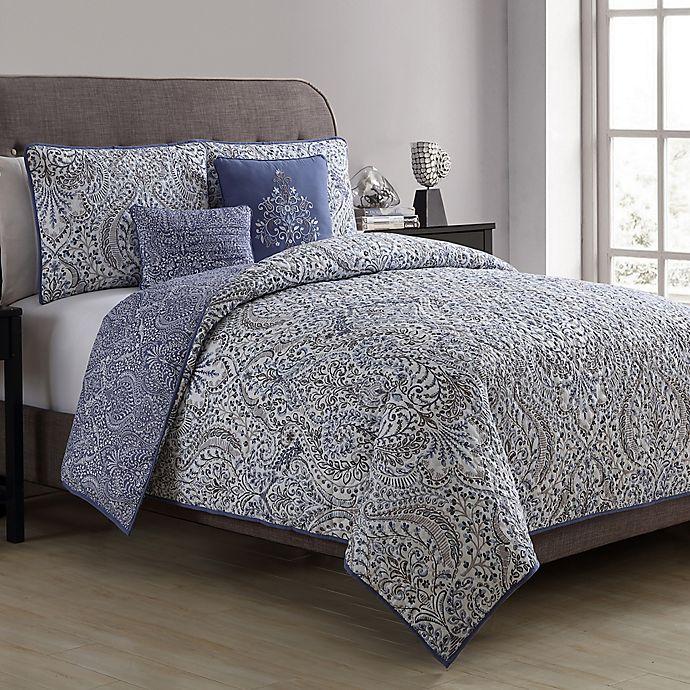 Alternate image 1 for VCNY Home Jolie Paris Reversible Full/Queen Comforter Set in Purple