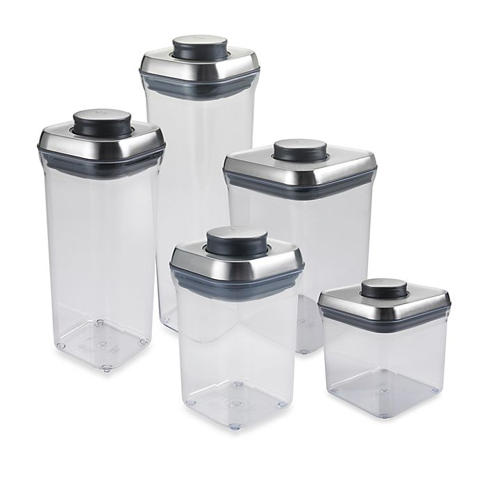Alternate image 1 for OXO SteeL™ POP Square Food Storage Container