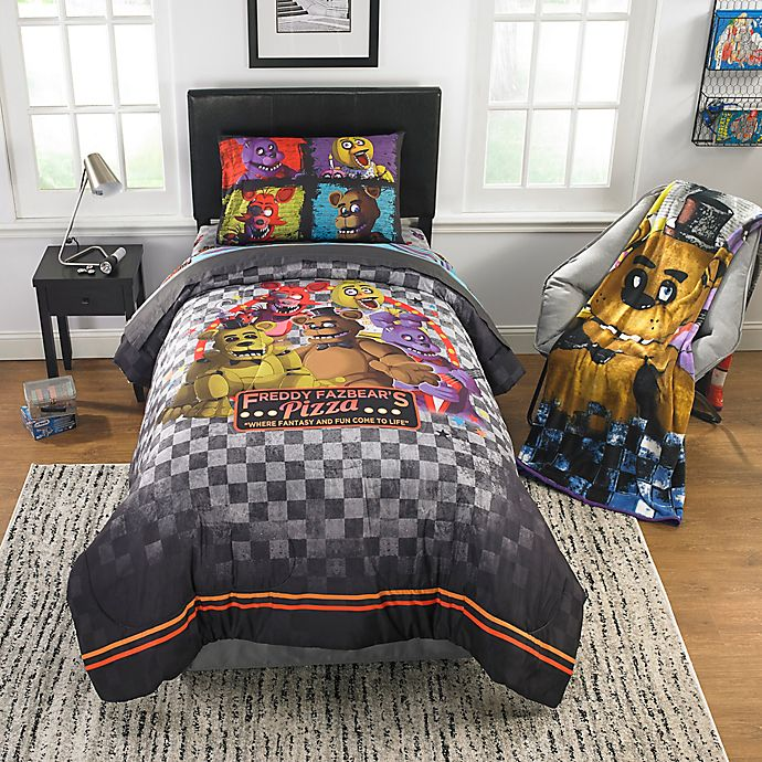 Five Nights At Freddy S Pizza Security Comforter Set Bed