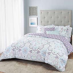 Nicole Miller Medallion Reversible Comforter Set