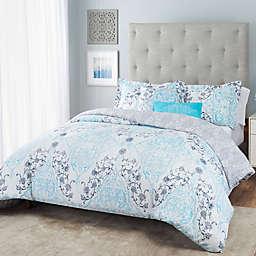 Nicole Miller Damask Reversible Comforter Set