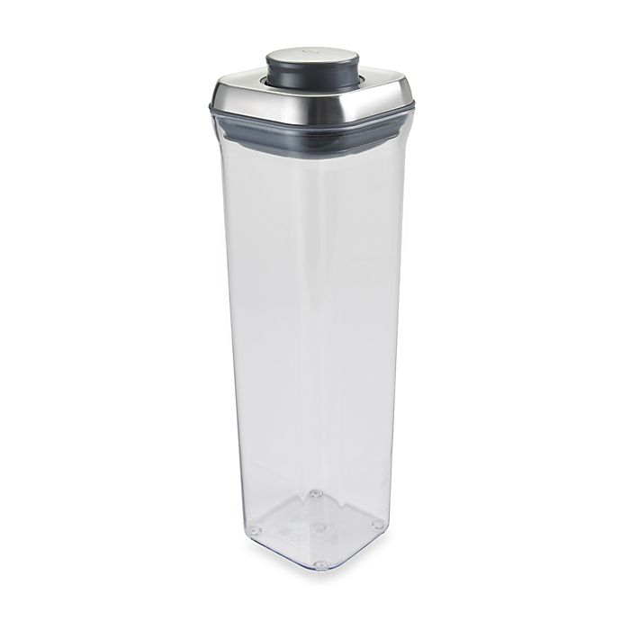 Alternate image 1 for OXO SteeL™  2.1-Quart POP Square Food Storage Container