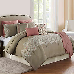 Cleo Embroidered Reversible Comforter Set