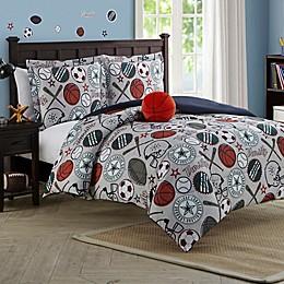 League Sports Reversible Comforter Set