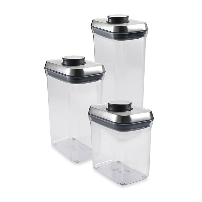 Alternate image 1 for OXO SteeL™  POP Rectangular Food Storage Container
