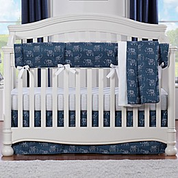 Liz and Roo Elephant Crib Bedding Collection in Navy