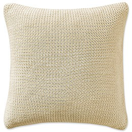 Highline Bedding Co. Driftwood Knit Square Throw Pillow in Sand