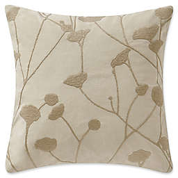 Highline Bedding Co. Driftwood Embroidered Square Throw Pillow in Sand