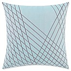 Vince Camuto® Kasu Striped Square Throw Pillow in Turquoise/Grey