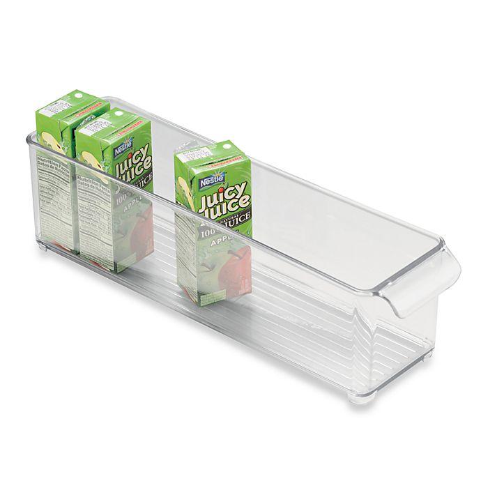 Alternate image 1 for InterDesign® Fridge Binz™ 4-Inch x 15-Inch Stackable Clear Plastic Bin