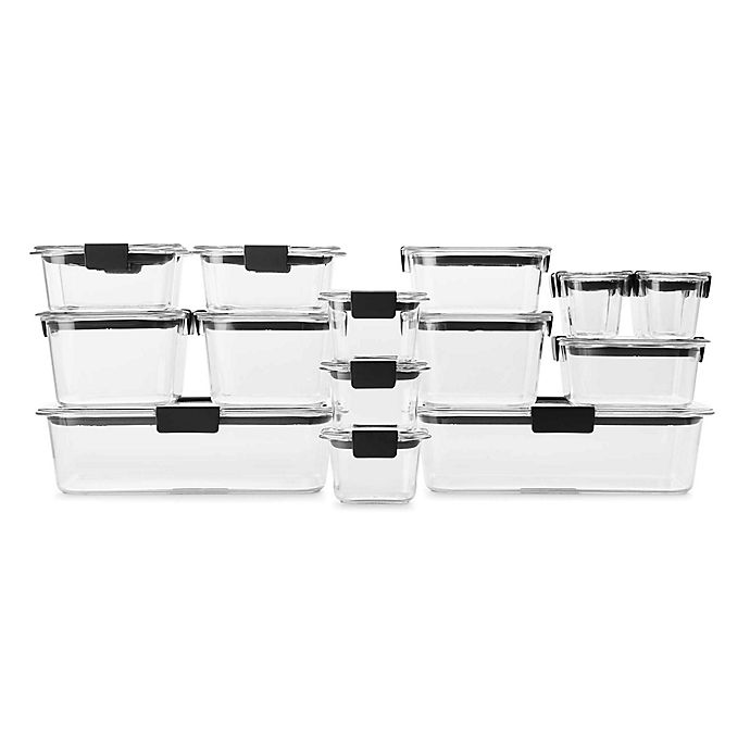 Alternate image 1 for Rubbermaid® Brilliance 36-Piece Food Storage Container Set