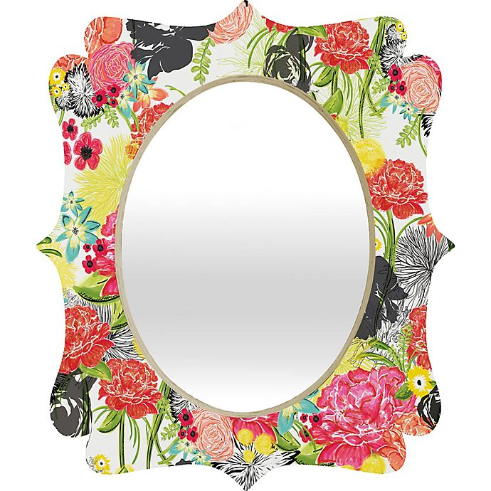 Alternate image 1 for Deny Designs® Khristian A. Howell Multicolor Oval Michella Quatrefoil Mirror