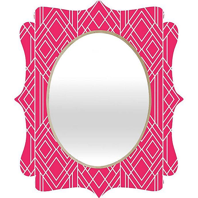 Alternate image 1 for Deny Designs® Elisabeth Fredriksson Oval Art Deco Mirror in Hot Pink