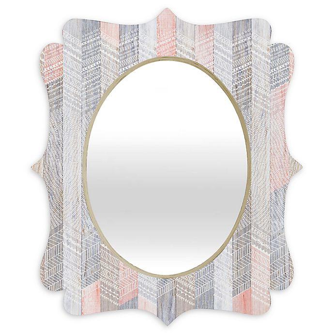 Alternate image 1 for Deny Designs® Ivete Abolina Oval Quatrefoil Mirror in Farmhouse Peach