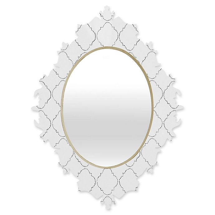 Alternate image 1 for Deny Designs® Hadley Hutton Oval Baroque Mirror in Dotty Grey