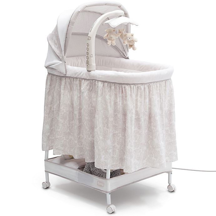 Alternate image 1 for Simmons Kids® Silent Auto Gliding Deluxe Bassinet