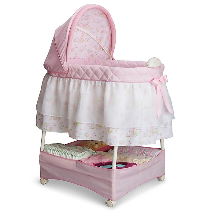 Alternate image 1 for Delta Children Disney® Princess Gliding Bassinet