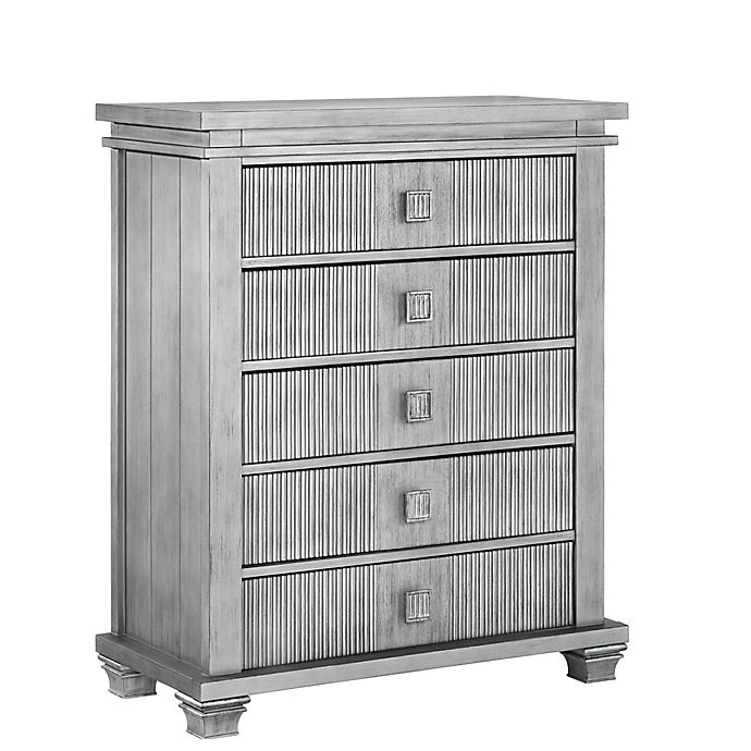 Alternate image 1 for Soho Baby Mayfield 5-Drawer Chest in Antique Silver