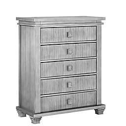 Soho Baby Mayfield 5-Drawer Chest in Antique Silver