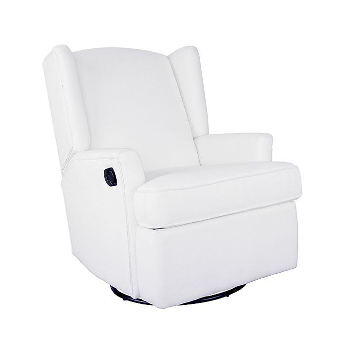 Strange Karla Dubois Hemingway Wingback Recliner In White Bed Alphanode Cool Chair Designs And Ideas Alphanodeonline
