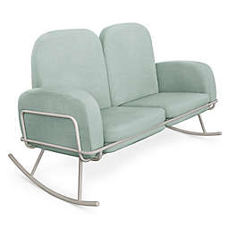 Nursery Works Double Seat Conversion Set for Ami Rocker in Seafoam Fabric
