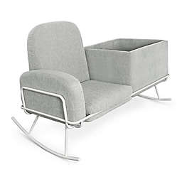 Nursery Works Ami Bassinet Rocker in Light Grey