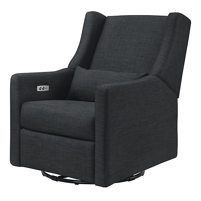 Alternate image 1 for Babyletto Kiwi Swivel Electronic Recliner in Coal Grey