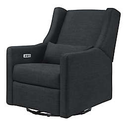 Babyletto Kiwi Swivel Electronic Recliner in Coal Grey