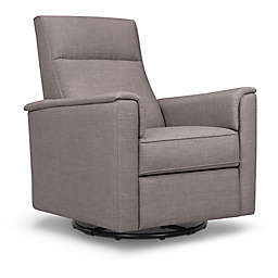 Million Dollar Baby Classic Willa Swivel Recliner in Steel Grey Tweed