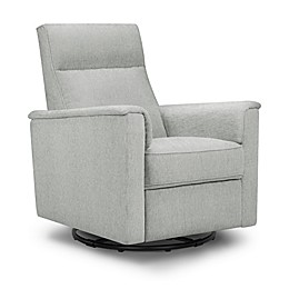 Million Dollar Baby Classic™ Willa Swivel Recliner in Feathered Grey Weave