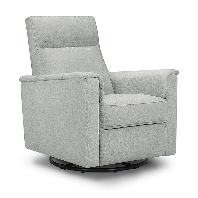 Alternate image 1 for Million Dollar Baby Classic™ Willa Swivel Recliner in Feathered Grey Weave